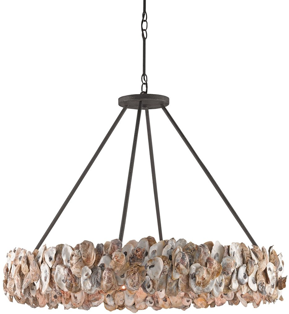 """Oyster Circle 38"""" Chandelier"""