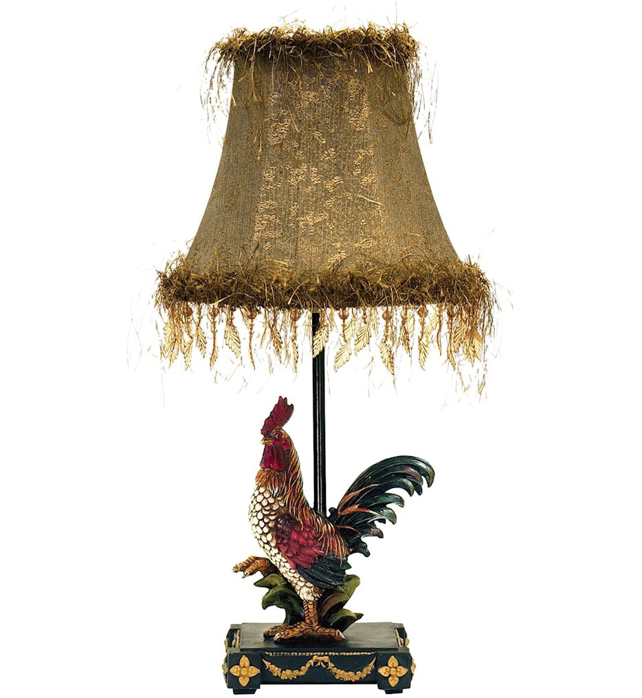 """Petite Rooster 19"""" Table Lamp"""