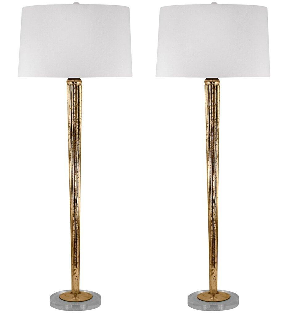 "Mercury Glass 37"" Table Lamp (Set of 2)"