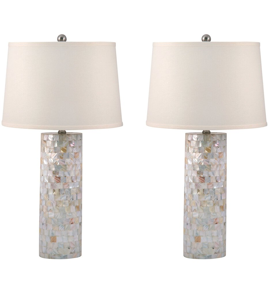 """Mother of Pearl 28"""" Table Lamp (Set of 2)"""