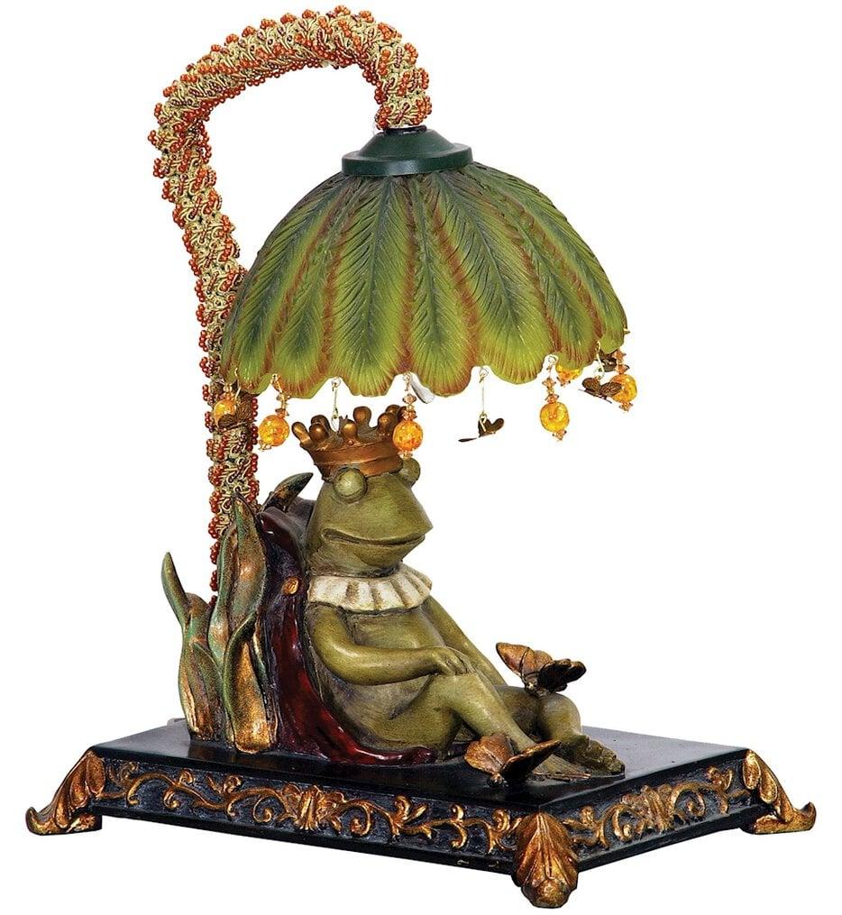 "Sleeping King Frog 12.3"" Table Lamp"