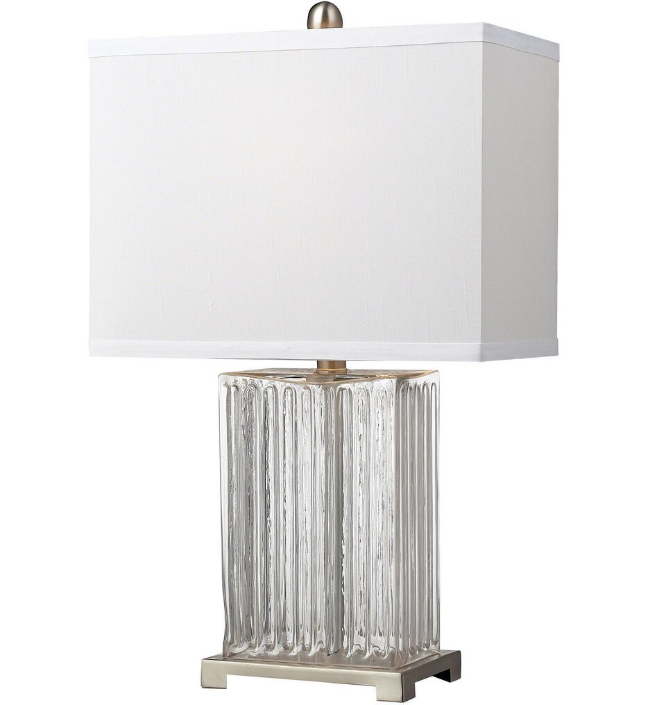 """Ribbed Glass 24"""" Table Lamp"""