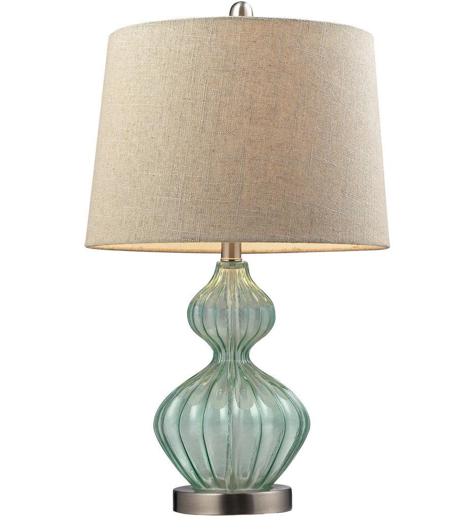 "Smoked Glass 25"" Table Lamp"