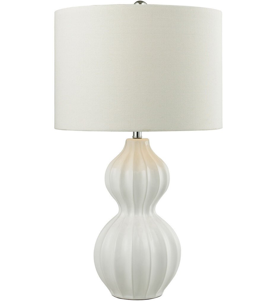 """Ribbed Gourd 26"""" Table Lamp"""