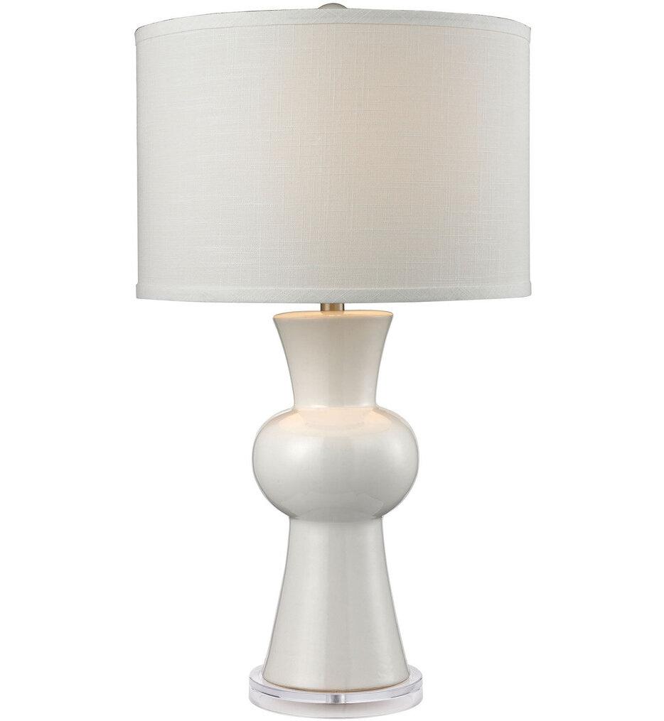 "White Ceramic 28"" Table Lamp"