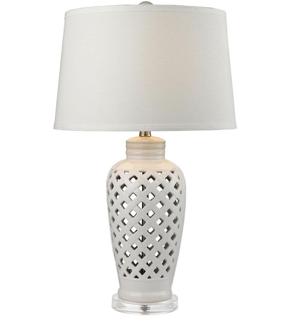 """Openwork Ceramic 27"""" Table Lamp"""
