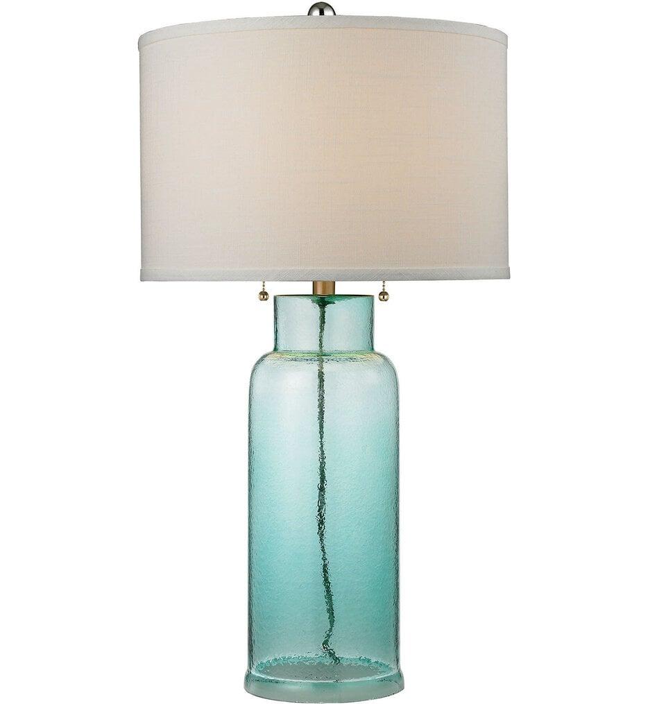 """Glass Bottle 30"""" Table Lamp"""