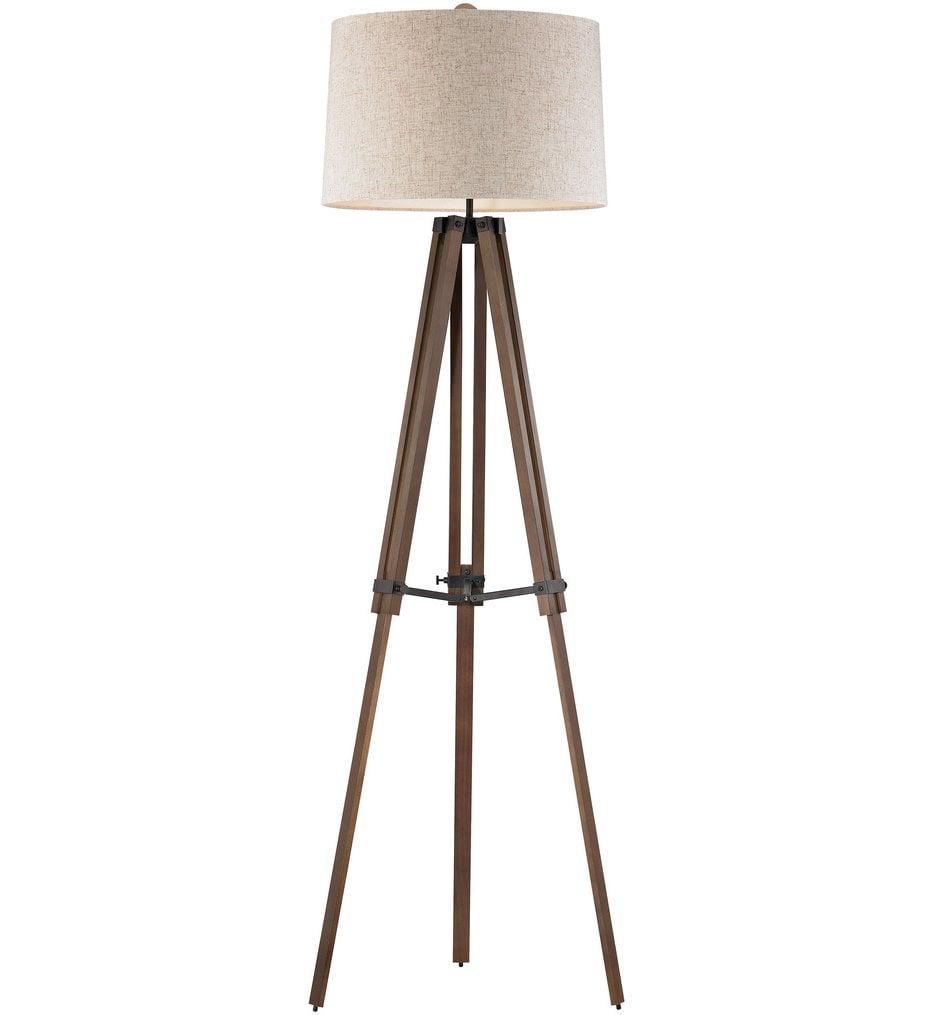 """Wooden Brace 62"""" Floor Lamp"""