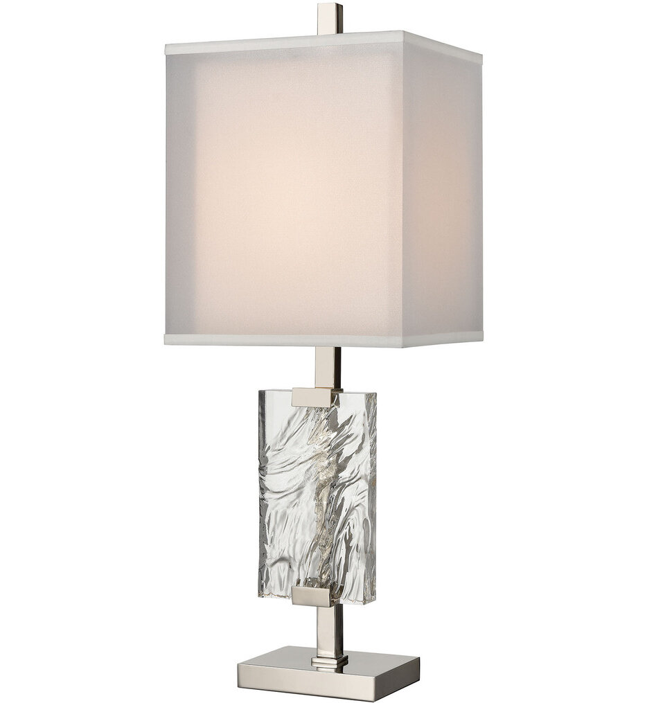 """Slice of Ice 32.5"""" Table Lamp"""