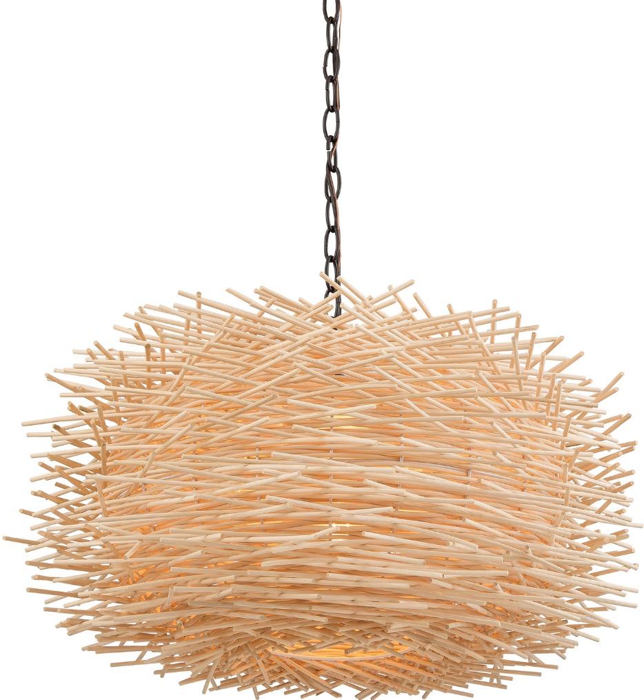 "Bamboo Nest 23"" Pendant"
