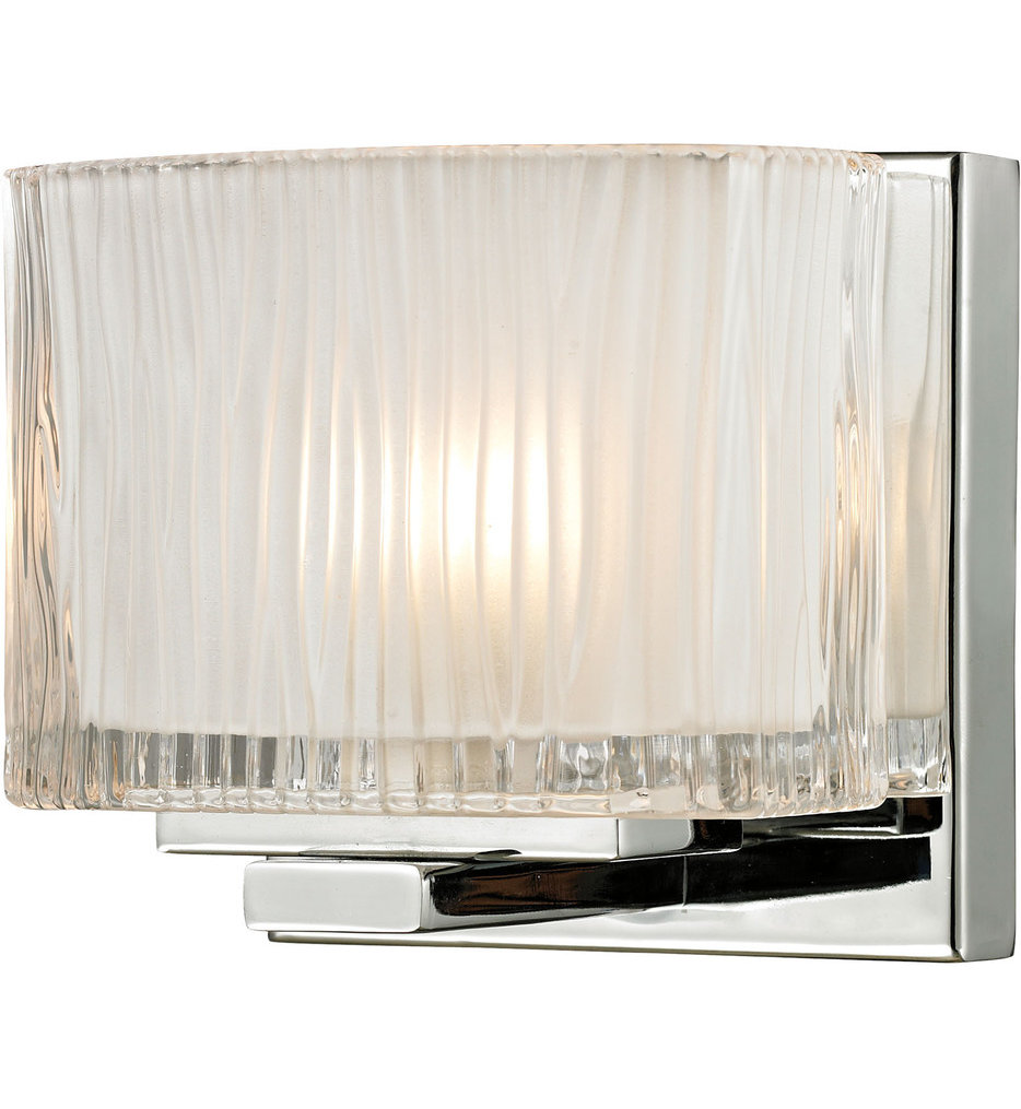 """Chiseled Glass 5"""" Wall Sconce"""