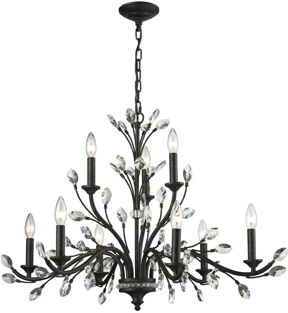 """Crystal Branches 33"""" Chandelier"""