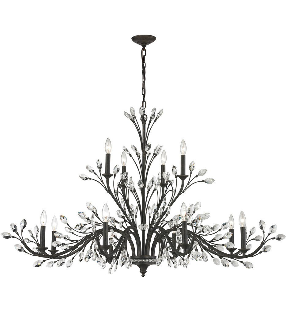 """Crystal Branches 52"""" Chandelier"""