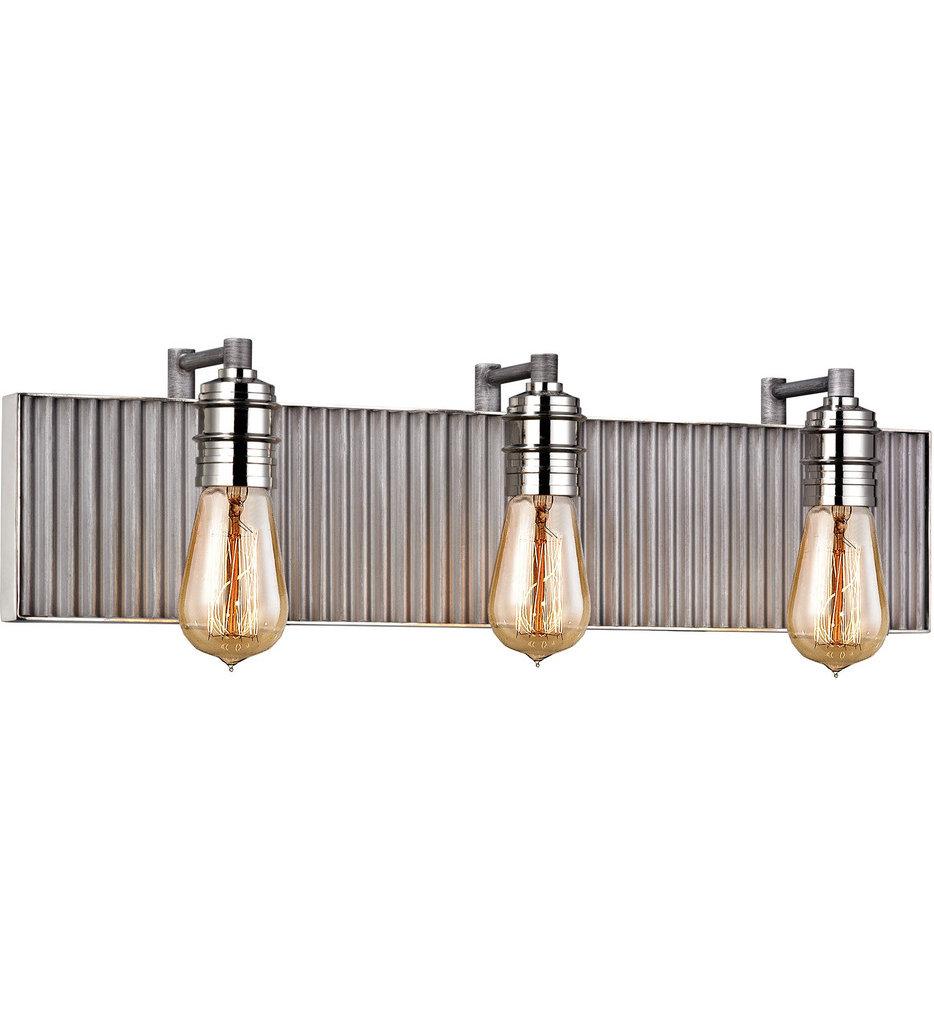 """Corrugated Steel 5"""" Bath Vanity Light"""