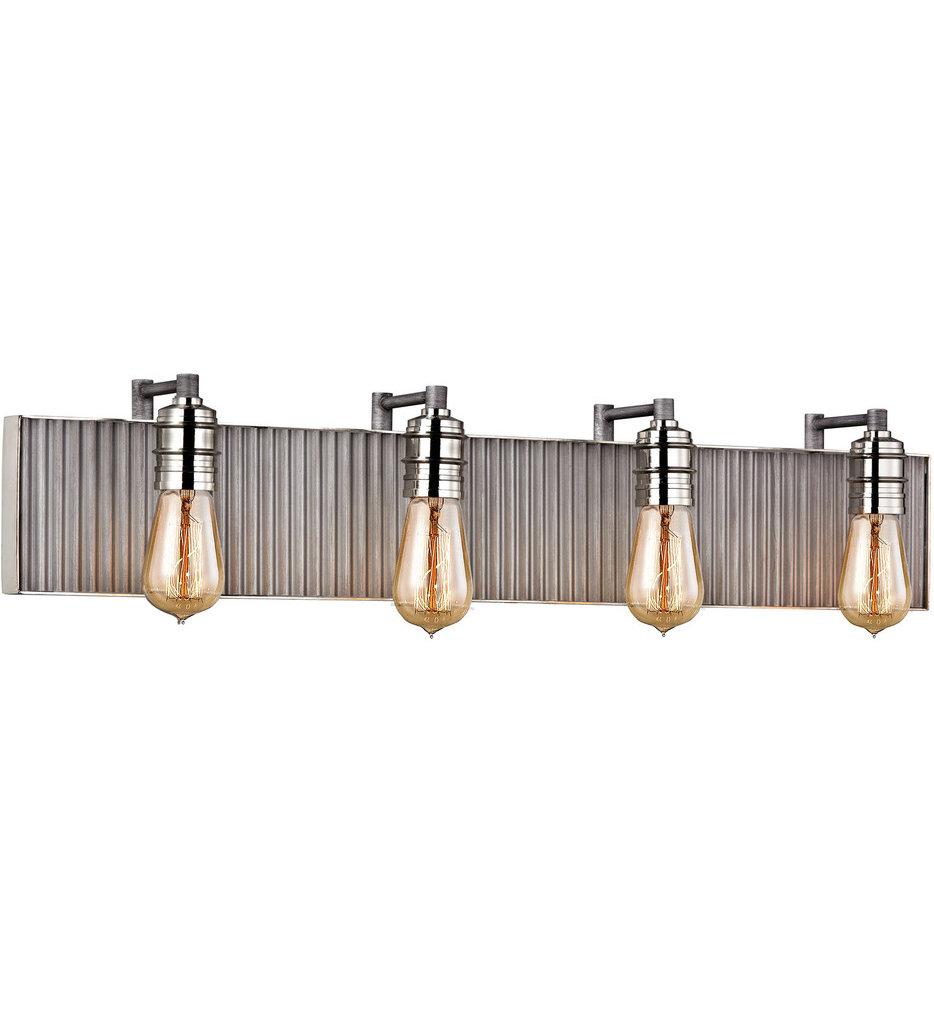 """Corrugated Steel 32"""" Bath Vanity Light"""