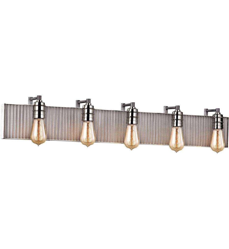 """Corrugated Steel 40"""" Bath Vanity Light"""