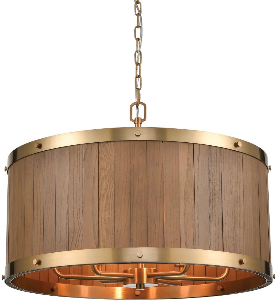 """Wooden Barrel 25"""" Chandelier"""