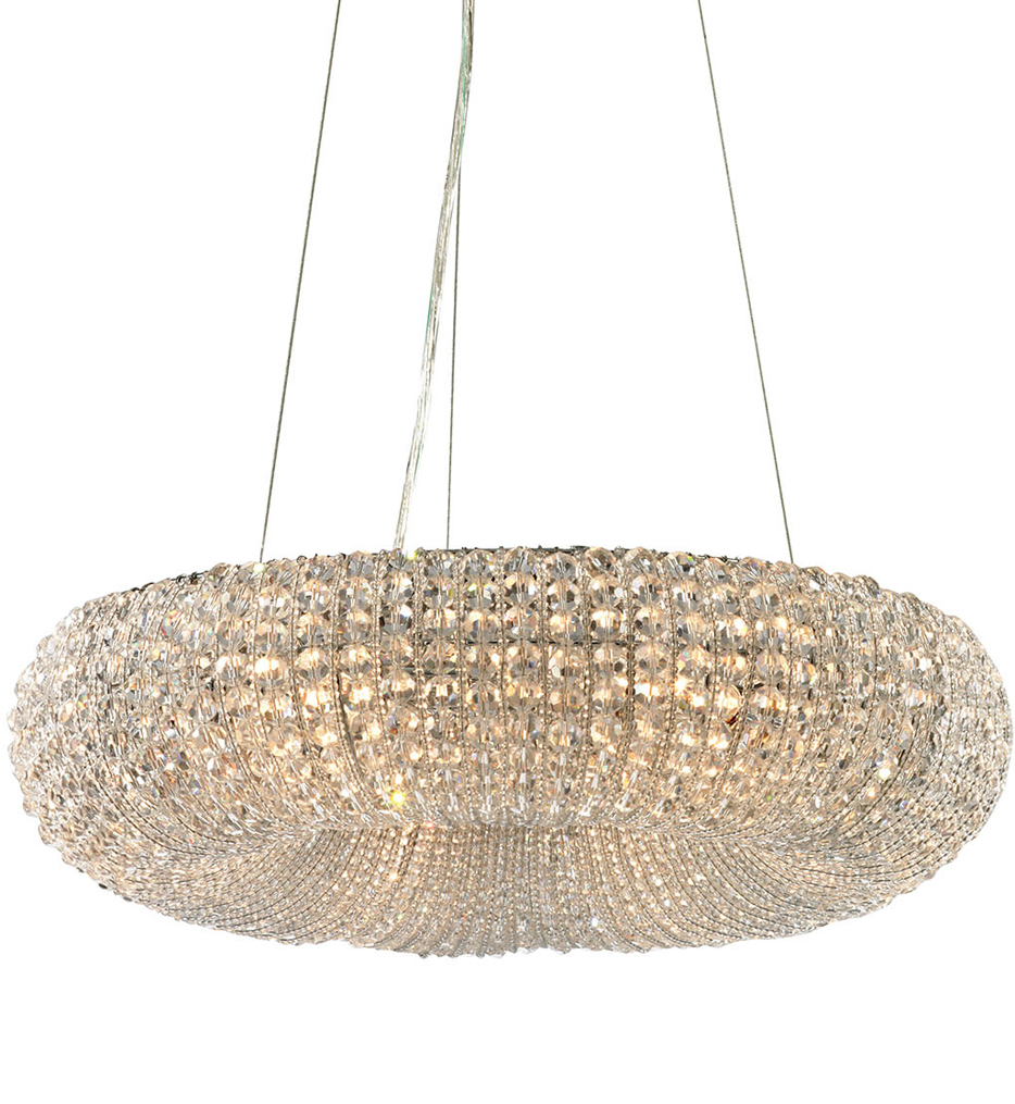 """Crystal Ring 18"""" Chandelier"""