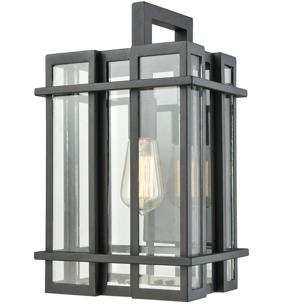 """Glass Tower 15"""" Outdoor Wall Sconce"""