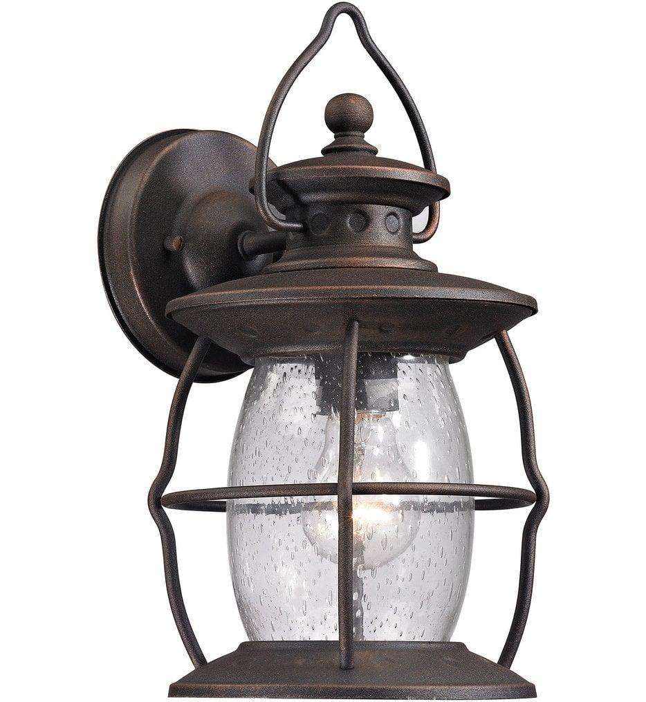 "Village Lantern 13"" Outdoor Wall Sconce"