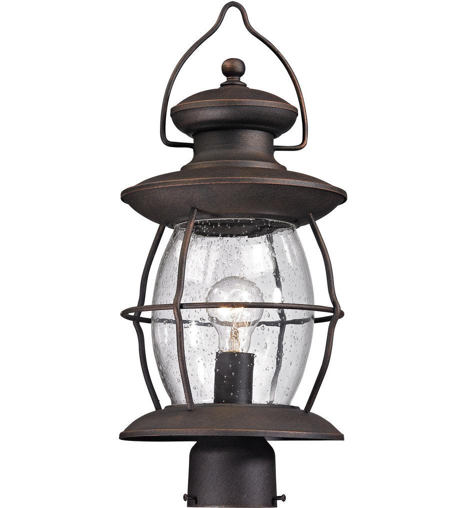 "Village Lantern 8"" 1 Light Outdoor Post Light"