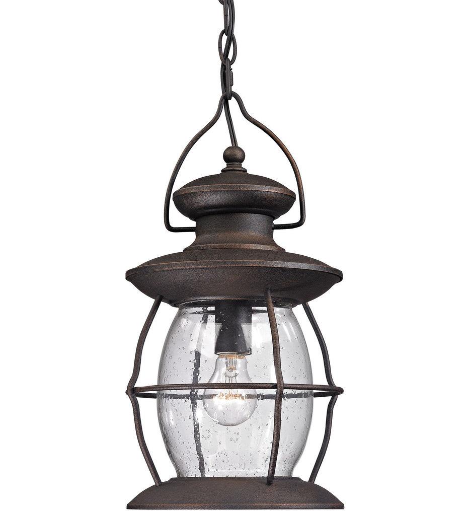 """Village Lantern 8"""" Outdoor Pendant"""