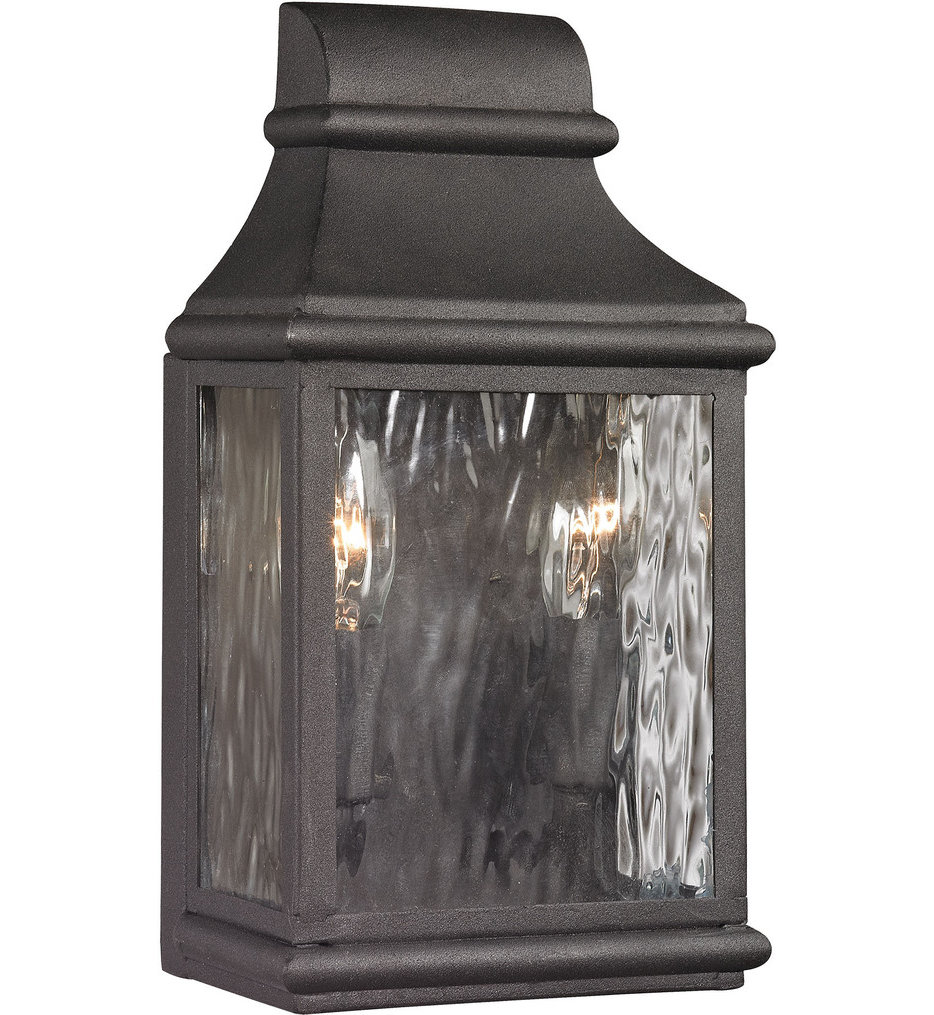 """Forged Jefferson 11"""" Outdoor Wall Sconce"""