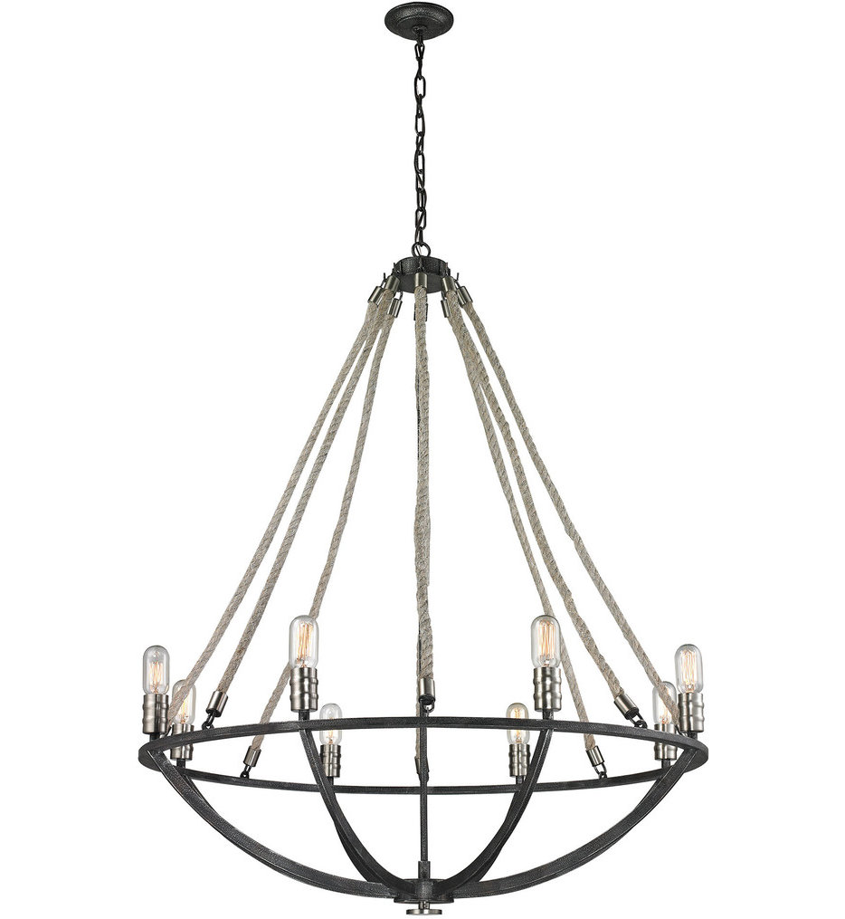 """Natural Rope 35"""" Chandelier"""