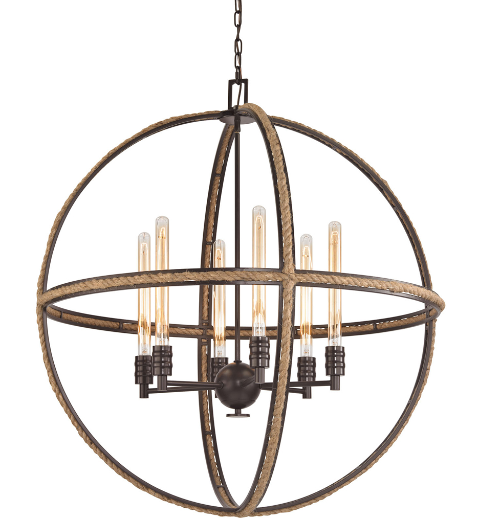 """Natural Rope 34"""" Chandelier"""