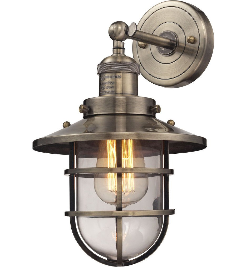 """Seaport 13"""" Wall Sconce"""