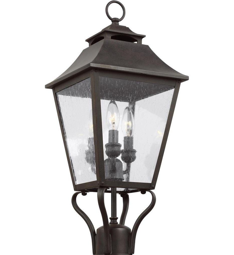 "Galena 23.25"" 3 Light Outdoor Post Lantern"