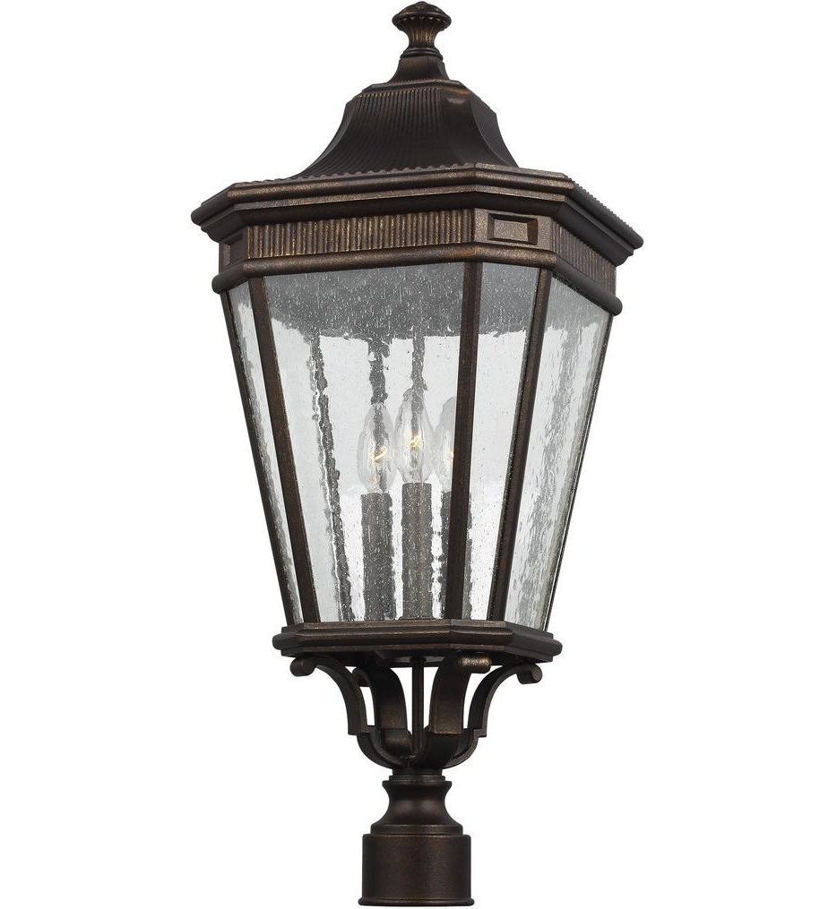 "Cotswold Lane 27.38"" 3 Light Outdoor Post Lantern"