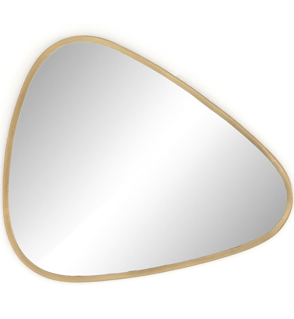 Brinley Antique Brass Triangle Mirror