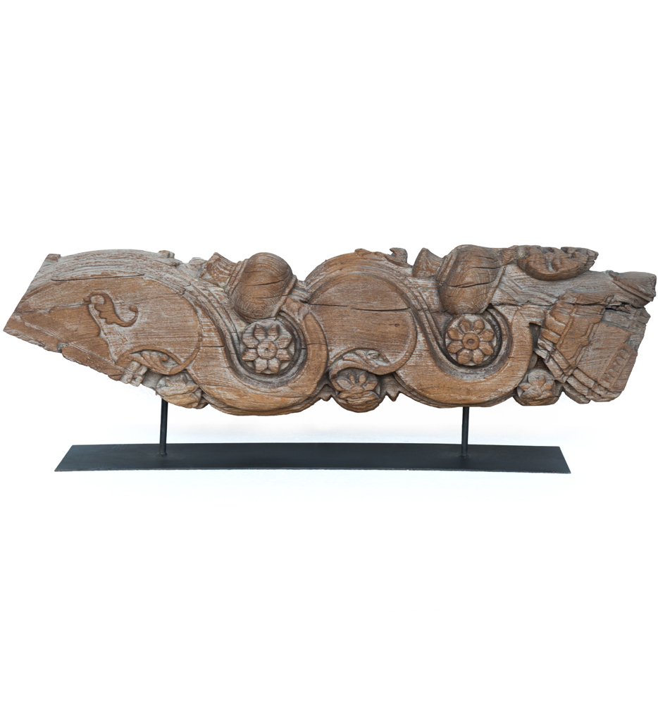 Large Carving on Metal Stand