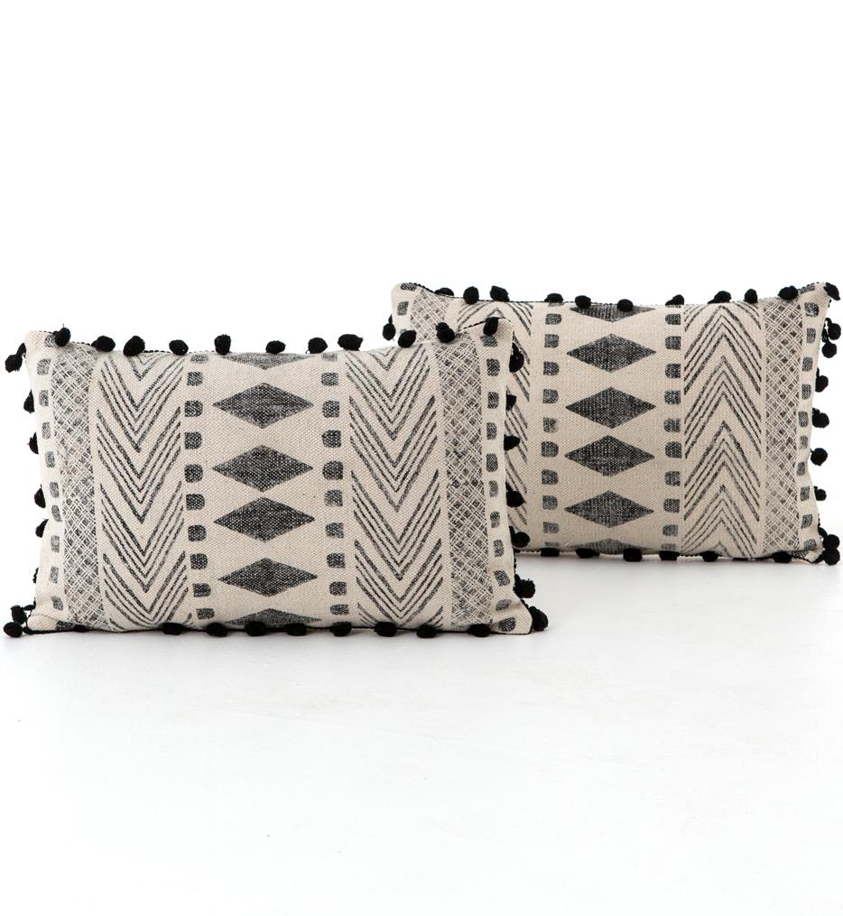 Faded Block Tribal Print Pillow (Set of 2)