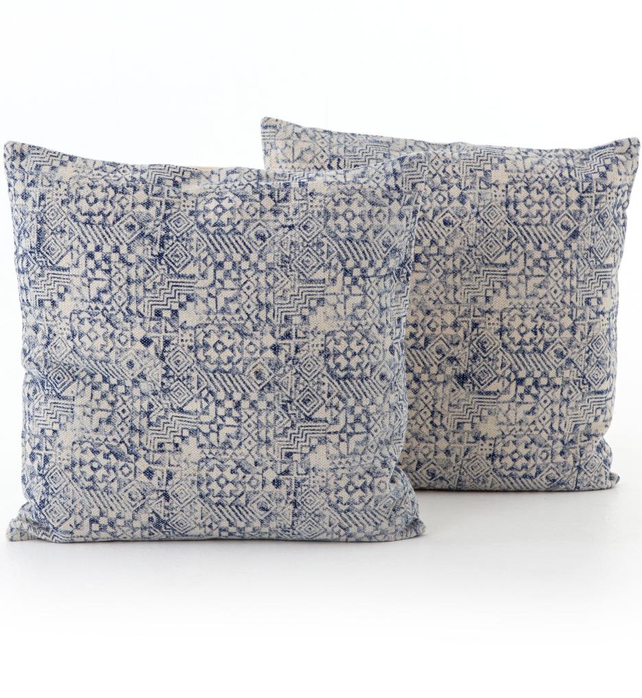 Faded Mosaic Print Pillow (Set of 2)