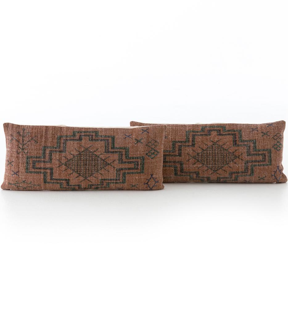 "Tribal Rust 12x28"" Pillow (Set of 2)"