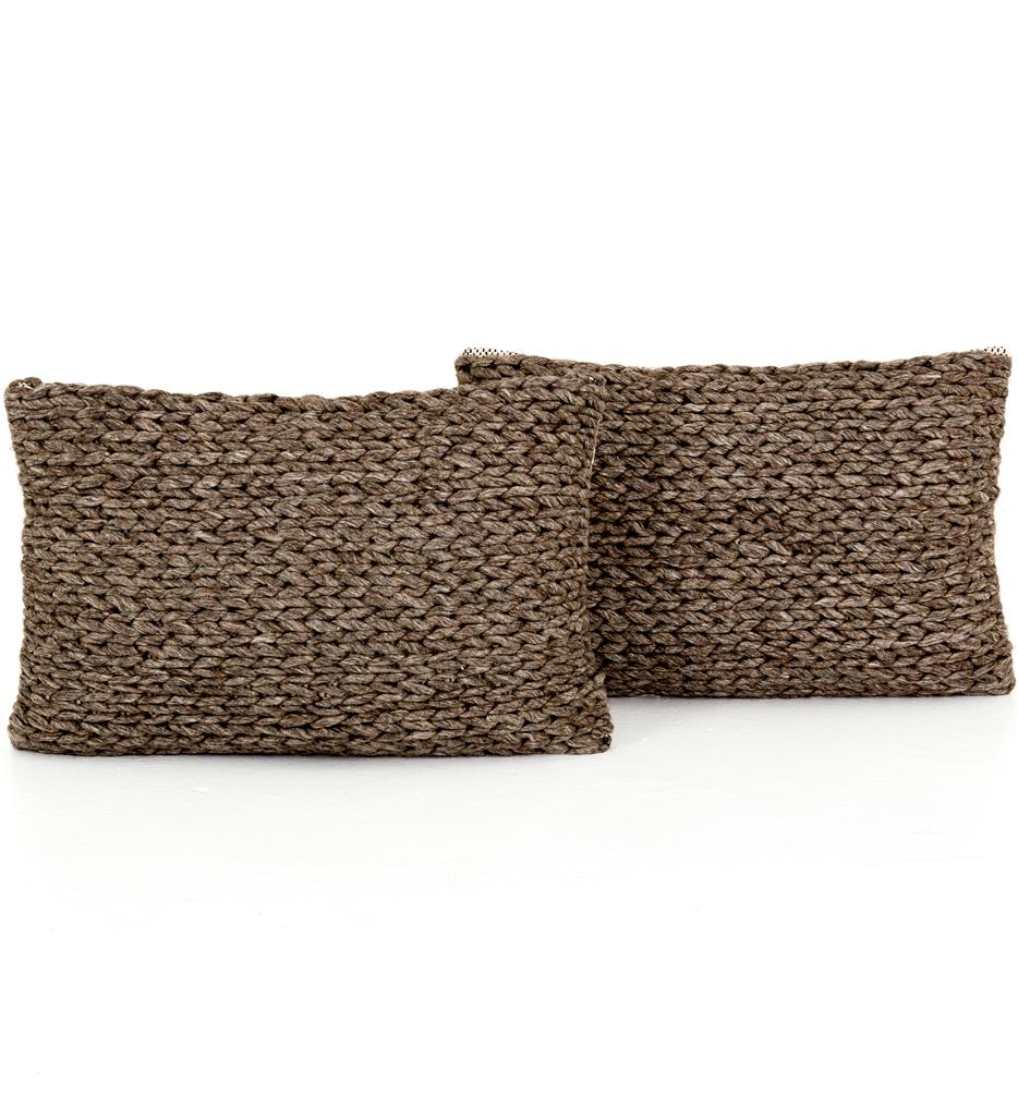 "Stone Braided 16x24"" Pillow (Set of 2)"