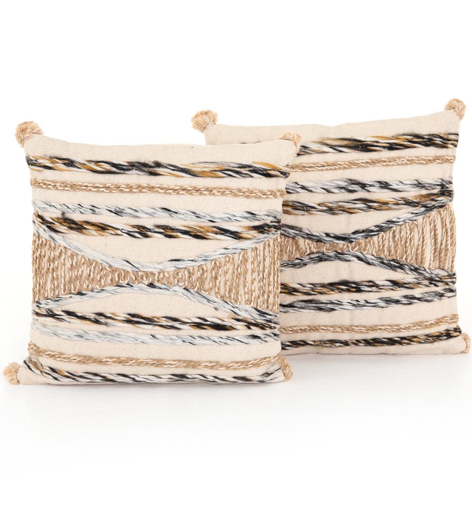 Braided Pom Pom Pillow (Set of 2)
