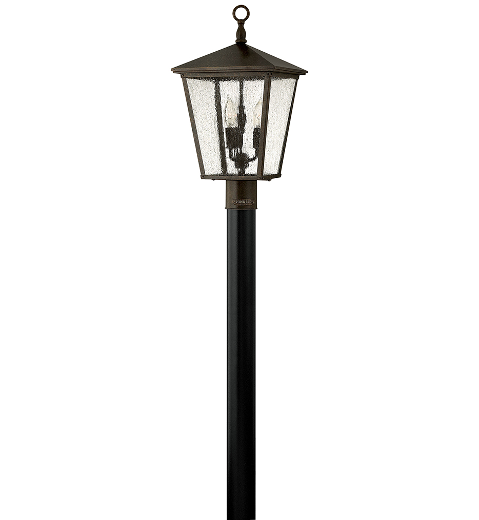 """Trellis 21"""" LED Outdoor Post Mount with Glass"""