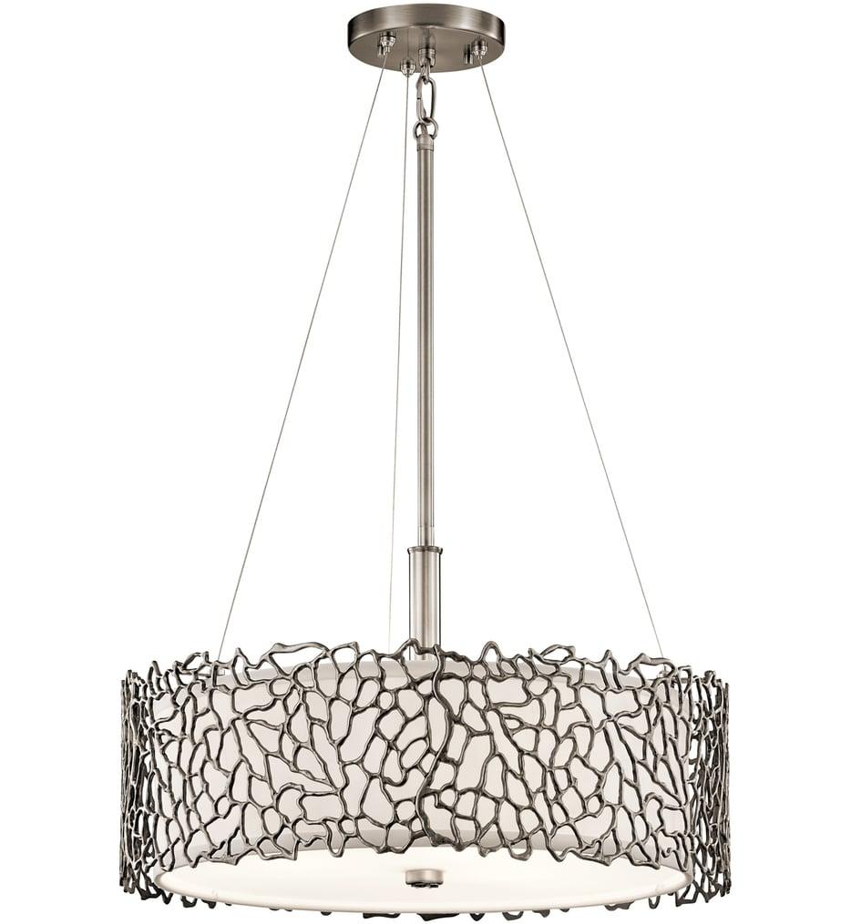 """Silver Coral 18.25"""" Pendant"""