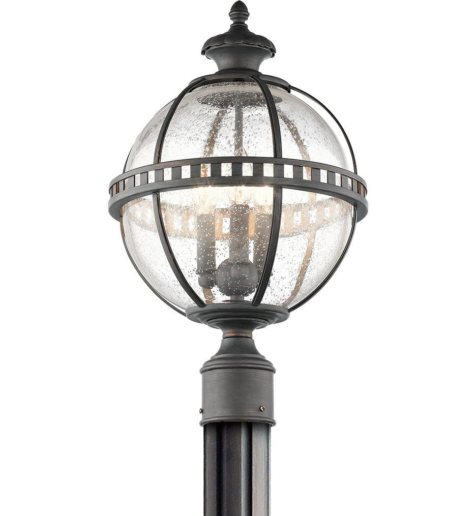 """Halleron 12"""" 3 Light Outdoor Post Lantern"""