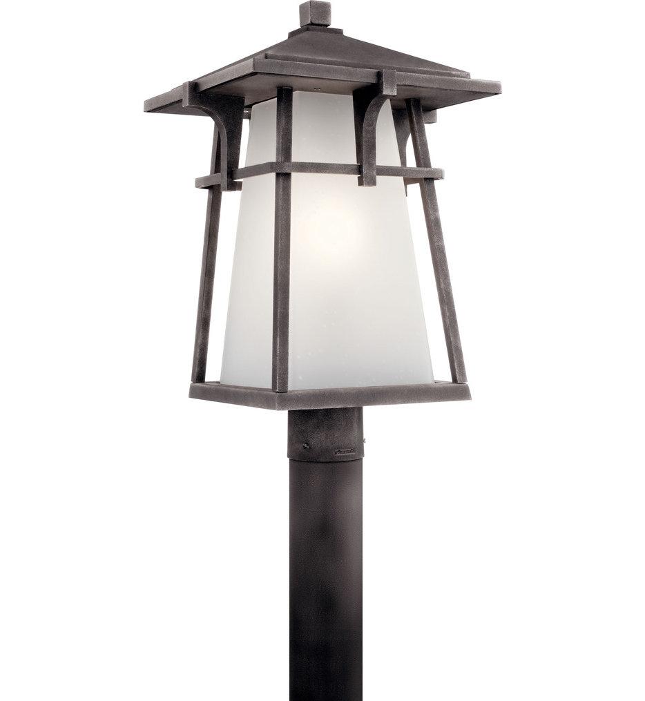 "Beckett Weathered Zinc 20"" Outdoor Post Lantern"