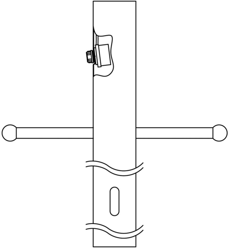 """84"""" Post with Photocell & Ladder"""