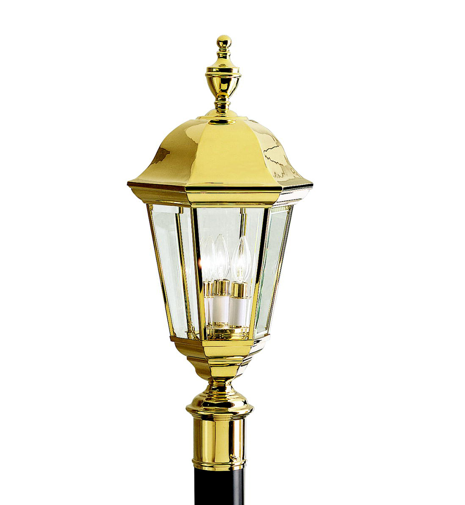 "Grove Mill 9.75"" 3 Light Outdoor Post Lantern"