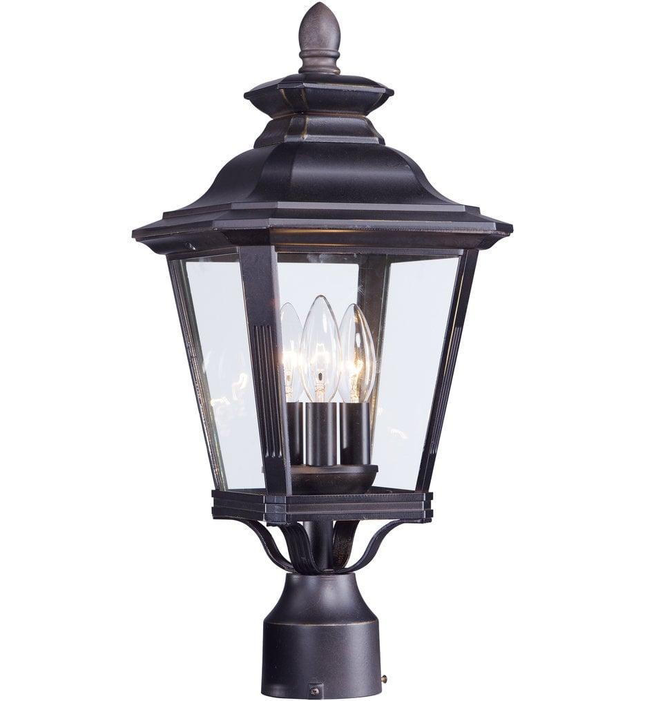"""Knoxville 19.5"""" 3 Light Outdoor Post Lantern"""