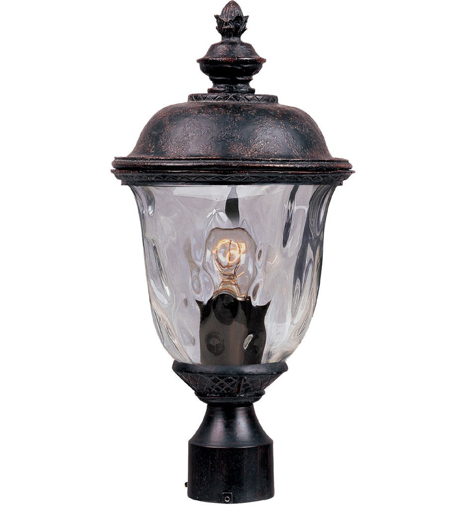 """Carriage House 19.5"""" 1 Light Incandescent Outdoor Post Light"""