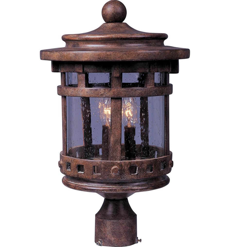 Santa Barbara 3 Light Incandescent Outdoor Post Light