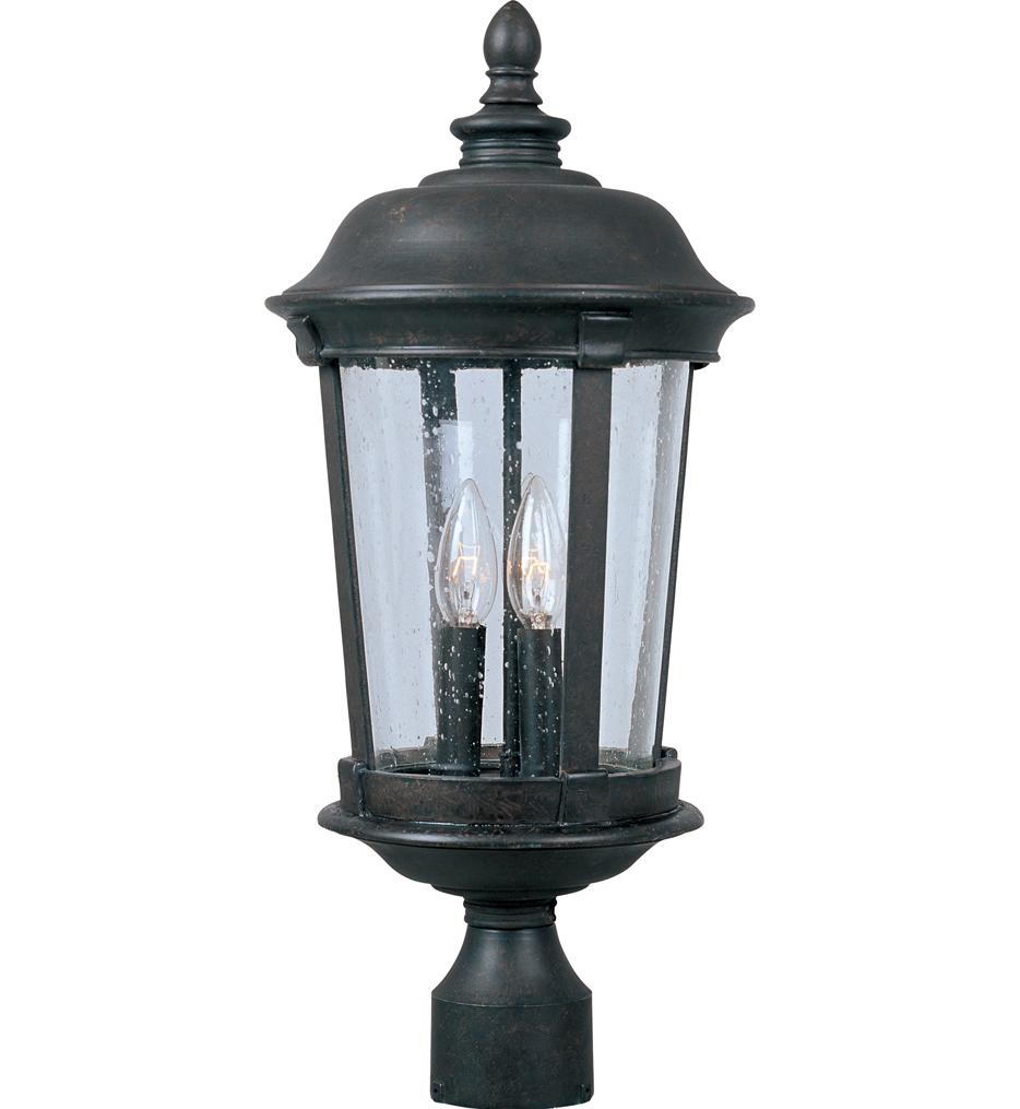 "Dover 21"" 3 Light Incandescent Outdoor Post Light"