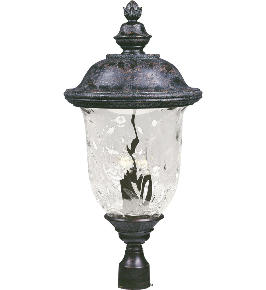"""Carriage House 29"""" 3 Light Incandescent Outdoor Post Light"""